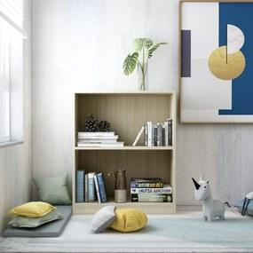 800858 vidaXL Bibliotecă, stejar Sonoma, 60 x 24 x 74,5 cm, PAL