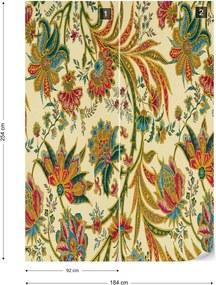 Fototapet GLIX - Flowers Plants Vintage Pattern 2 + adeziv GRATUIT Papírová tapeta  - 184x254 cm
