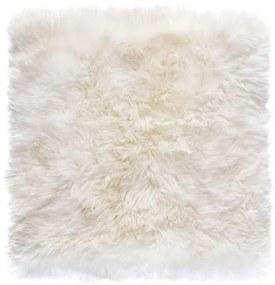Covor pătrat din blană de oaie Royal Dream Zealand, 70 x 70 cm
