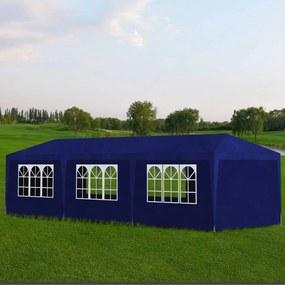 Pavilion pentru petreceri, 8 pereți, 9 x 3 x 2,5 m, Albastru