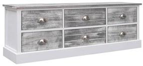 284123 vidaXL Bancă de hol, gri, 115 x 30 x 40 cm, lemn