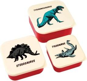 Set 3 cutii pentru gustări Rex London Prehistoric Land