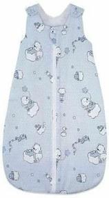 KidsDecor - Sac de dormit fara maneci Ursuletul Martinica 95 cm din Bumbac, 95x36 cm, 12-24 luni, Tog 0.5, Albastru