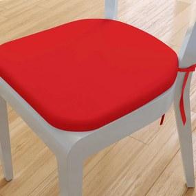 Goldea pernă pentru scaun rotundă din bumbac 39x37cm - roșu 39 x 37 cm