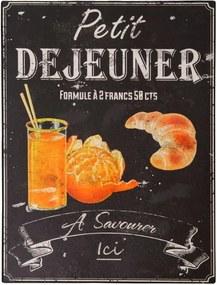 Tăbliță Antic Line Petit Déjeuner, 25 x 33 cm