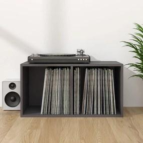 800119 vidaXL Cutie de depozitare vinyl-uri, gri, 71 x 34 x 36 cm, PAL