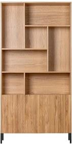 Biblioteca maro din lemn de stejar 200 cm Gravure