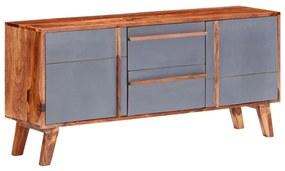 286371 vidaXL Servantă, gri, 120 x 30 x 55 cm, lemn masiv de sheesham