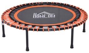 Homcom Trambulina Fitness pentru Intern si Extern Negru si Portocaliu Ф101.6 x 25 cm