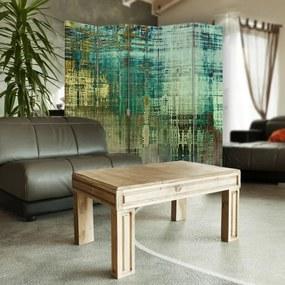 CARO Paravan - Abstract - Green Fantasy | cinci păr?i | reversibil 180x150 cm