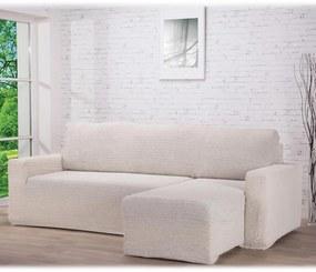 Huse care se întind foarte bine GLAMOUR smântânii canapea cu otoman dreapta (l. 210 - 270 cm)