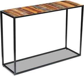243337 vidaXL Masă consolă, lemn reciclat de esență tare, 110x35x76 cm