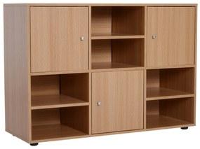 Homcom Biblioteca 6 Compartimente in Lemn, 110x40x78cm