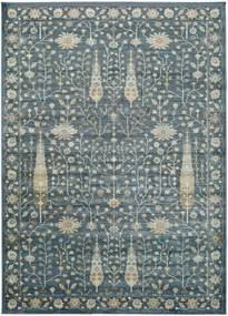 Covor din viscoză Universal Vintage Flowers, 140 x 200 cm, albastru