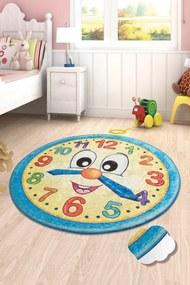 Covor pentru copii Watch Albastru - 140 x 140 cm