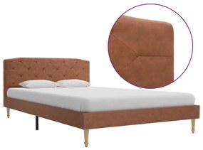 280558 vidaXL Cadru de pat, maro, 120 x 200 cm, material textil