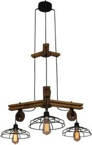 Suspensie/Lustră cu 3 becuri Home Lighting DEON, industrial