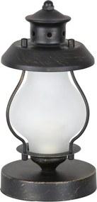 Rábalux Victorio 7346 Veioze, Lampi de masă auriu antic alb C37 E14 Max 40W Ø115 x 245 mm