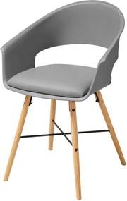 Scaun cu picioare din lemn de fag Actona Ivar, gri
