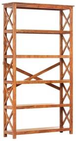289626 vidaXL Bibliotecă lemn masiv acacia, finisaj sheesham, 100x30x180 cm