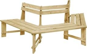 49089 vidaXL Bancă de grădină, 240 cm, lemn de pin tratat