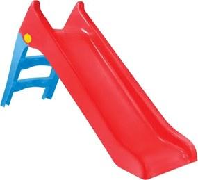 Tobogan de Gradina pentru Copii, cu Scara si Functie pentru Conectare Furtun de Apa, 140cm, Rosu