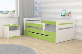 Ourbaby copii pat Tomi - verde 180x80 cm pat + spațiu de depozitare
