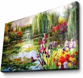 Reproducere tablou pe pânză Impressionist Garden, 70 x 45 cm
