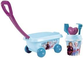 Smoby - Set jucarii nisip  Carucior Frozen 2 cu accesorii