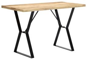 247949 vidaXL Masă de bucătărie, 120 x 60 x 76 cm, lemn masiv de mango