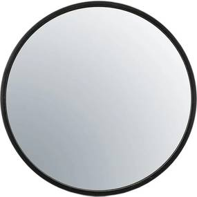 Oglinda rotunda cu rama neagra Selfie, 60 x 5 x 60 cm