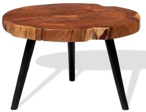 243957 vidaXL Măsuță de cafea din buștean lemn masiv de acacia (55-60)x40 cm