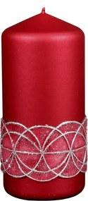 Lumânare de Crăciun Glamour, roşu