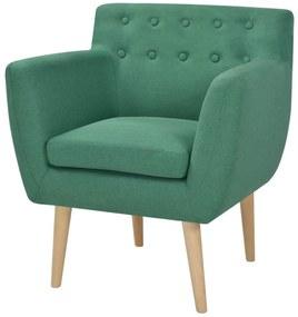 244068 vidaXL Fotoliu, verde, material textil