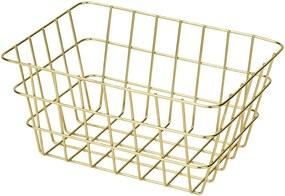 Coș metalic pentru depozitare Wenko Viana, auriu