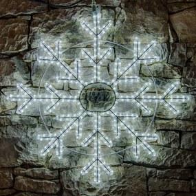 decoLED decorațiune LED - fulg de nea, 85 cm, alb rece
