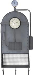 Ceas de perete cu spațiu depozitare și cârlige Mauro Ferretti Caldron