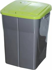 Coş de sortare deşeuri, 51 x 36 x 36,5 cm, capac verde, 45 l