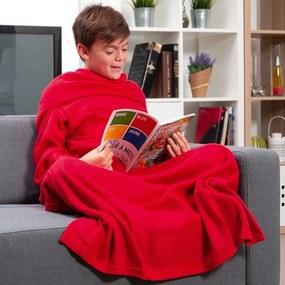 Pătură moale cu mâneci InnovaGoods, roșu