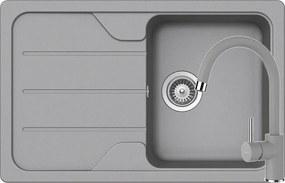Set Chiuveta Schock Formhaus D-100S 780 x 500 mm si Baterie Schock Plutos Croma Cristalite