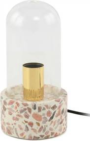 Lampa decorativa din mozaic Curacao alba/roz , un bec