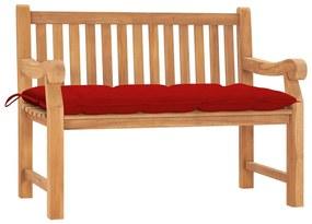 3062976 vidaXL Bancă de grădină cu pernă, 120 cm, lemn masiv tec