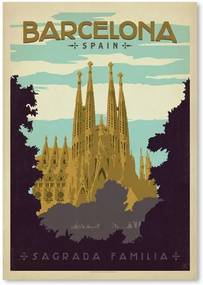 Poster Americanflat Barcelona, 42 x 30 cm