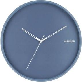 Ceas de perete Karlsson Hue, ø 40 cm, albastru