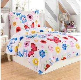 Lenjerie de pat din micropluș My House Butterfly, 140 x 200 cm