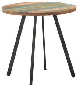 320484 vidaXL Masă de bucătărie, 80 cm, lemn masiv reciclat