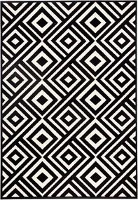 Covor Zala Living Art, 70 x 140 cm, negru - alb