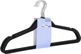Set 5 umerașe din plastic pentru haine Wenko Flocking, negru