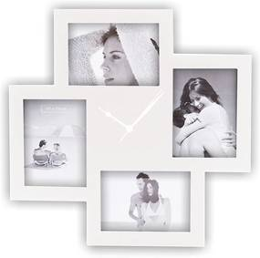 Ceas de perete cu rame foto Tomasucci Collage, alb