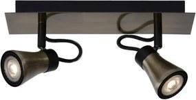 Lucide 17992/10/03 - Lampa spot LED BOLO 2xGU10/4,5W/230V bronz